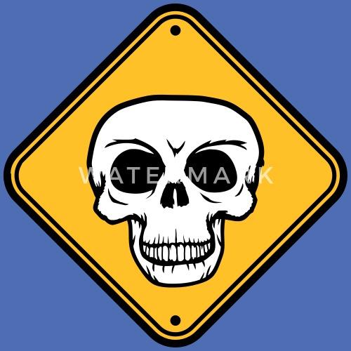Achtung Vorsicht Schild Hinweis Gefahr Danger Scha Stoffbeutel
