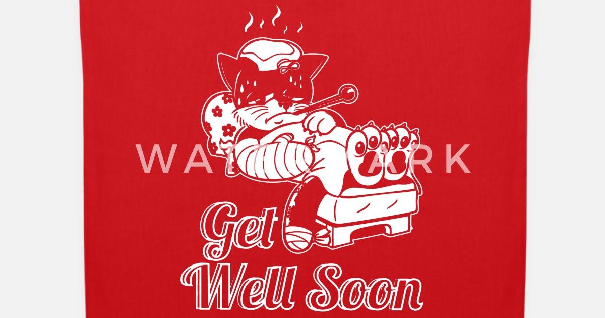 Gute Besserung Katze Krankenhaus Geschenk Stoffbeutel Spreadshirt