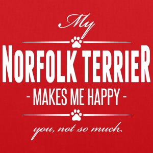 My Norfolk Terrier makes me happy - Stoffbeutel