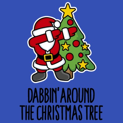 Dabbin' around the Christmas tree - Text