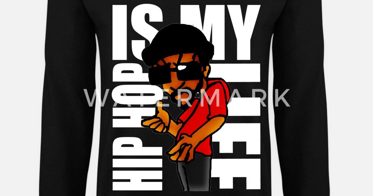 hip hop is my life Sudadera hombre  de8c9d1240c