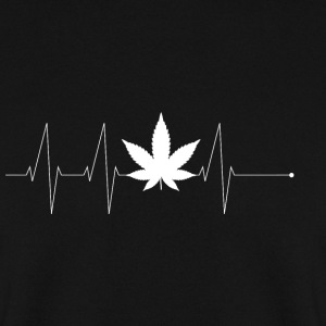 Feuille Heartbeat T-shirt cadeau pothead - Sweat-shirt Homme