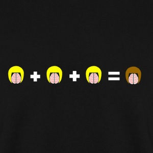 3 Blonde Brains = 1 Brunette - Men's Sweatshirt