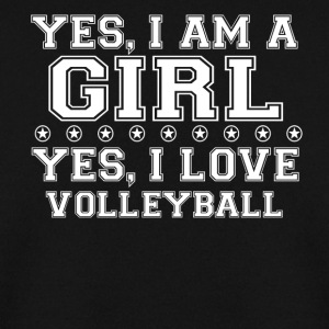 gift on girl a girl love gift bday VOLLEYBALL - Men's Sweatshirt