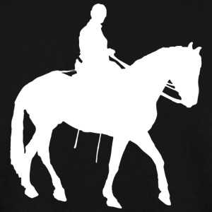 Horse rider love illustration WHITE silhouette - Men's Sweatshirt