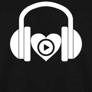 DJ music headphones heart design gift - Men's Sweatshirt