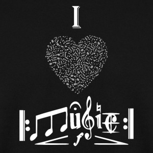 I love Music - Men's Sweatshirt