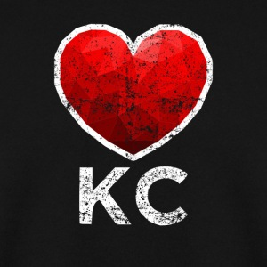 Kansas City Heart T Shirt Distressed - Bluza męska