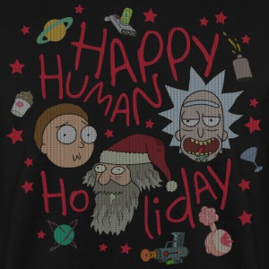 Rick and Morty Happy Human Holiday Sweater