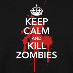 keep calm crown Kill Zombies! Halloween Blut Krone - Männer Pullover
