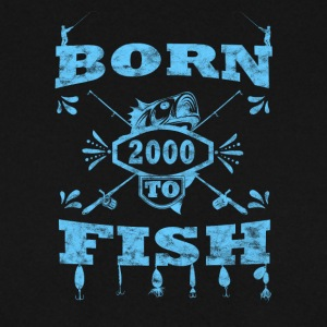 BORN TO FISH angle angeln 2000 - Männer Pullover