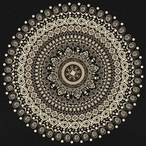 Mandala in beige-brown tones - Men's Sweatshirt