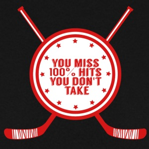 Hockey: You miss 100% hits you don't take - Men's Sweatshirt