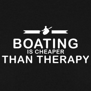 Boating is cheaper than therapy - Men's Sweatshirt
