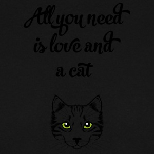 All you need is love and cat gift cat gift - Men's Sweatshirt