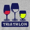 triathlon aclool verre apero humour - Sweat-shirt Homme