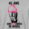 45 ans musculation bodybuilding anniver - Sweat-shirt Homme