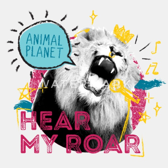 Animal Planet Lion Hear My Roar Quote Men's Sweatshirt   Spreadshirt