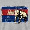 Cambodia - Elephant - Vintage Look  - Sweat-shirt Homme