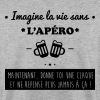 La vie sans apéro,humour,citations,alcool - Sweat-shirt Homme