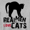 Real Men love Cats Pillow - Männer Pullover