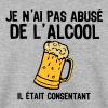 abuse alcool consentant1 biere - Sweat-shirt Homme