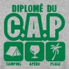 diplome cap camping apero plage humour - Sweat-shirt Homme