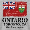 Ontario Flag - Canada - Vintage Look - Sweat-shirt Homme
