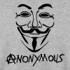 logo anarchy anonymous masque mask - Men's Sweatshirt