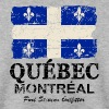 Québec  Flag - Canada - Vintage Look - Sweat-shirt Homme