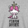It's ok to be different - unicorn - Men's Sweatshirt