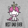 Best dad ever - cute unicorn - Sweat-shirt Homme