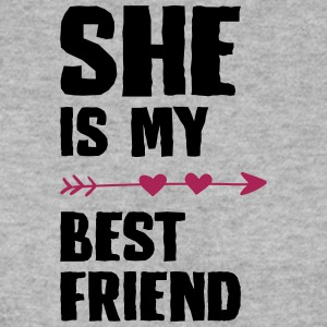 She is my best friend Left - Männer Pullover