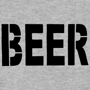 BEER Stencil Black - Men's Sweatshirt