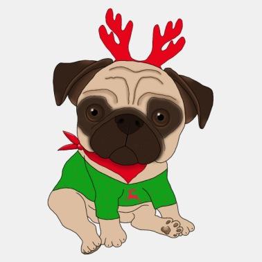 Mops Bilder Weihnachten.Mops Weihnachten Männer Pullover Spreadshirt