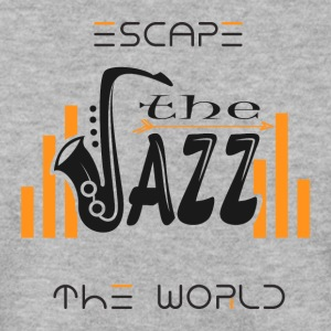 Escape the World Jazz Saksofoni Music Passion Song - Miesten svetaripaita