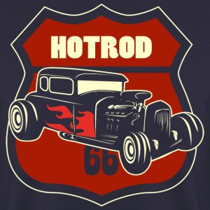 hotrod with 66 sign