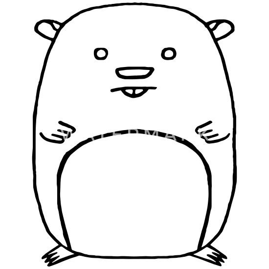 Dessin De Contour De Hamster Ours En Peluche Spreadshirt