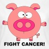 Fuck Fight Cancer Krebs Brustkrebs Schwein Pig - Women's T-Shirt