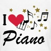 I love piano music   - Women's T-Shirt