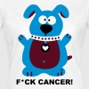 Fight Fuck Cancer Krebs Brustkrebs Hund Hunde - Frauen T-Shirt