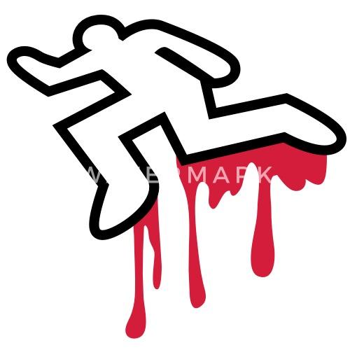 Murder Homicide Coroner Dead Body Outline Womens T Shirt
