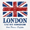 Union Jack - London - Vintage Look  - T-shirt Femme