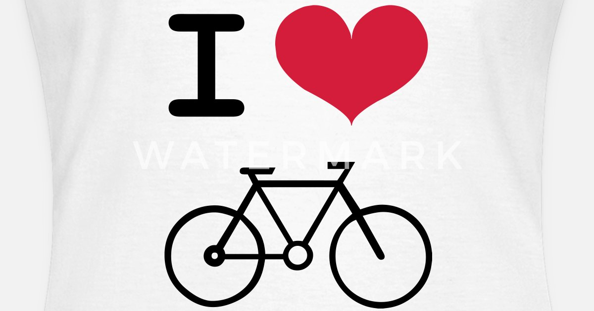 I Love Cycling Womens T Shirt Spreadshirt