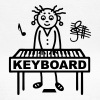 Keyboard player woman - Women's T-Shirt