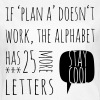 Funny Plan B alphabet typographic cool t-shirts - Women's T-Shirt