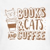 books cats and coffee - Women's T-Shirt