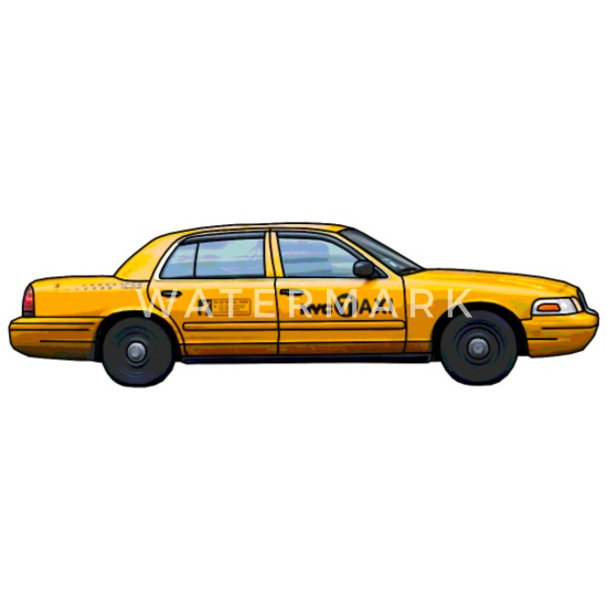 NYC taxi New York gul cab t skjorte gaveide T skjorte for