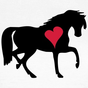 Heart Horse Pony - Dame-T-shirt
