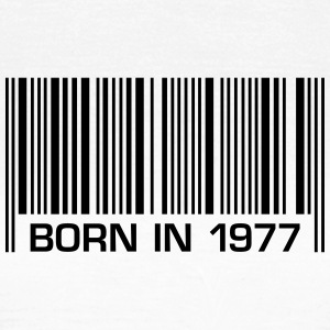 born barcode in 1977 40th birthday 40th birthday - Women's T-Shirt